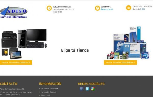 Tienda Online ADISO Informática y Consumibles
