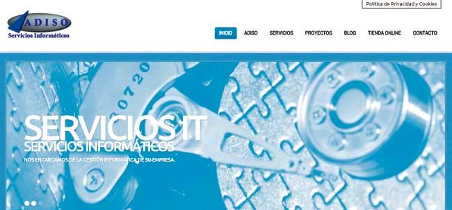 Web Corporativa ADISO Servicios Informáticos